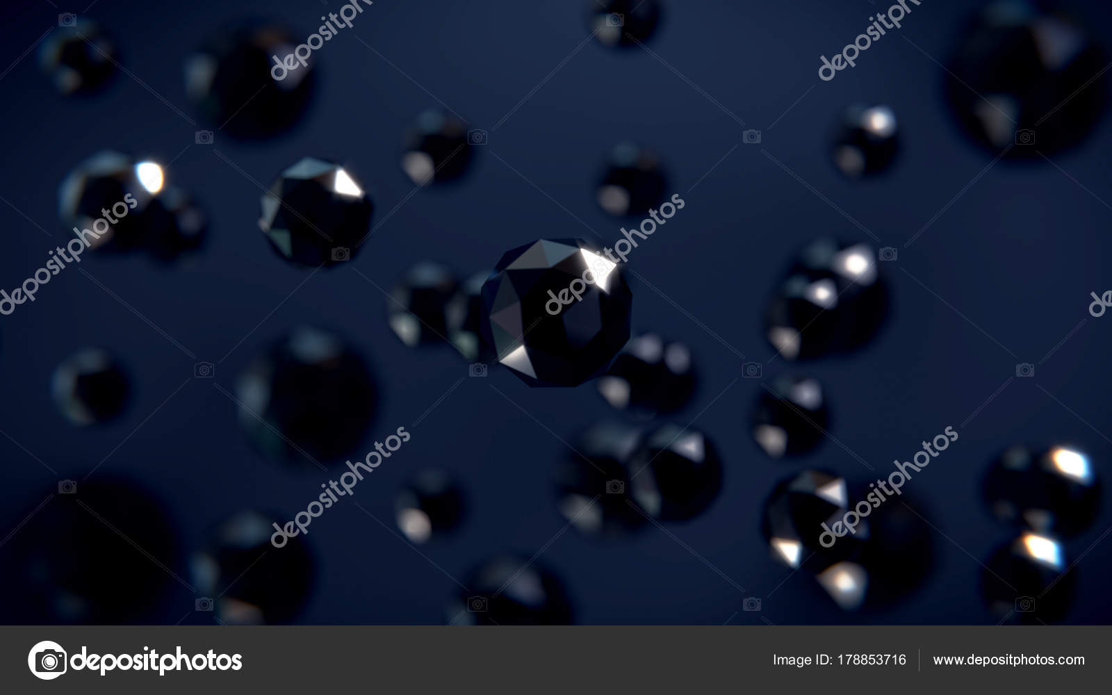 Abstract 3d Dark Background With Geometric Shapes Desktop Wallpapers Photo By Lapotnik