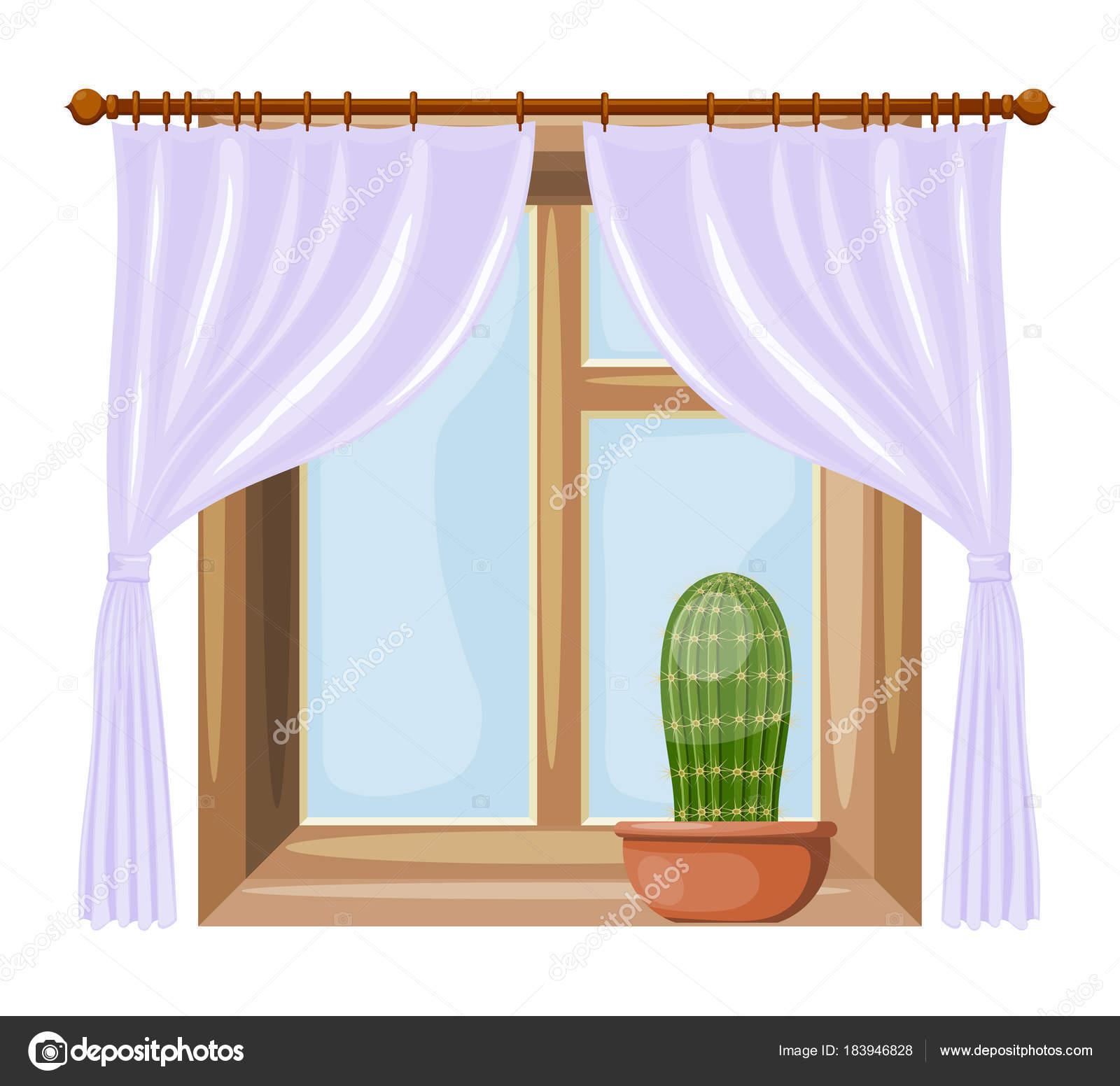Color de ventanas de estilo de dibujos animados imagen con - Dibujos para cortinas ...