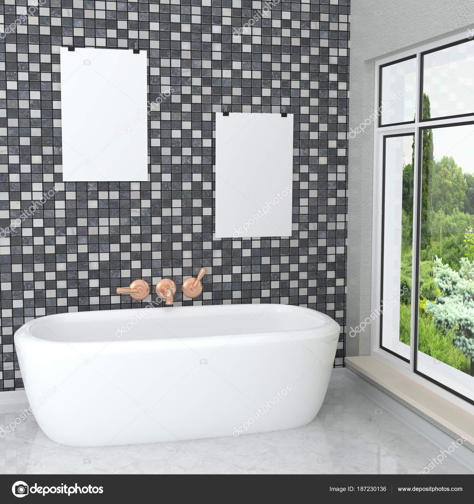 Blanc Moderne Salle De Bain Luxueuse Dans La Salle De Bain Avec