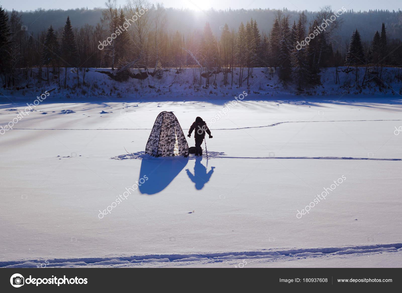Kış balık tutma için çadırlar