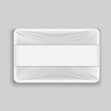 Polyethylene package isolated on gray background clip art vector