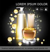 Coenzyme Q10. Serum essence bottle with dropper. Skin care moisturizing treatment vial design