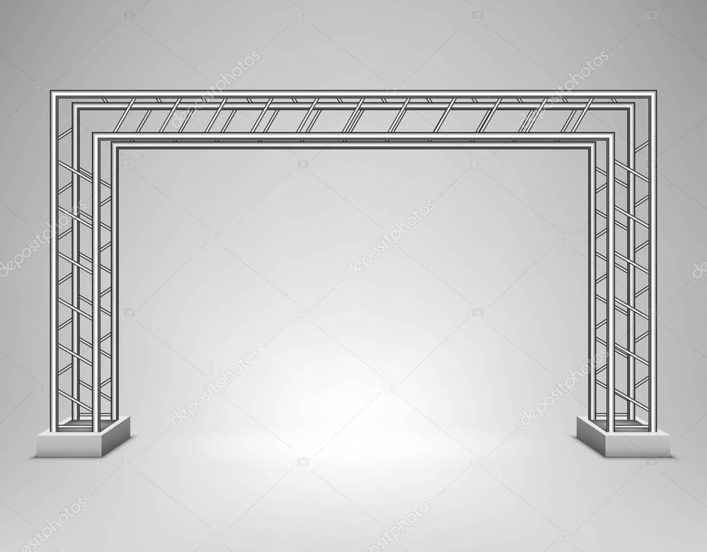 estructura de metal Ilustracin de vector Vector de stock