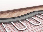 Fotografie Fußbodenheizung. 3D illustration