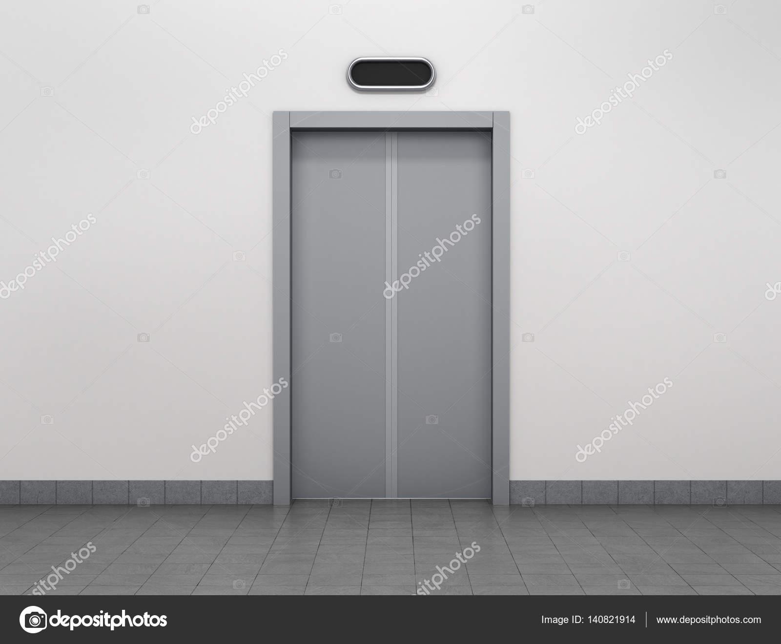 Les Portes Modernes les portes ascenseur ou ascenseur modernes en métal fermé dans