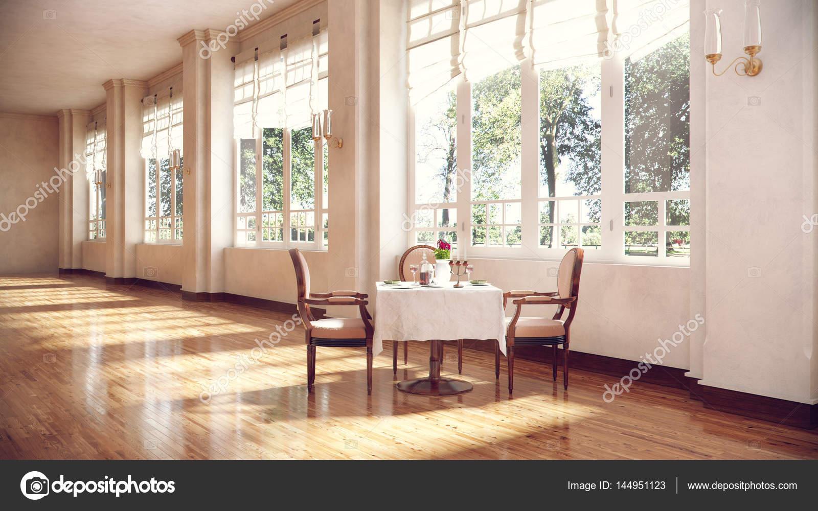 Ronde Tafel En Stoelen.Ronde Tafel En Stoelen In Conferentie Kamer Interieur Met Houten F