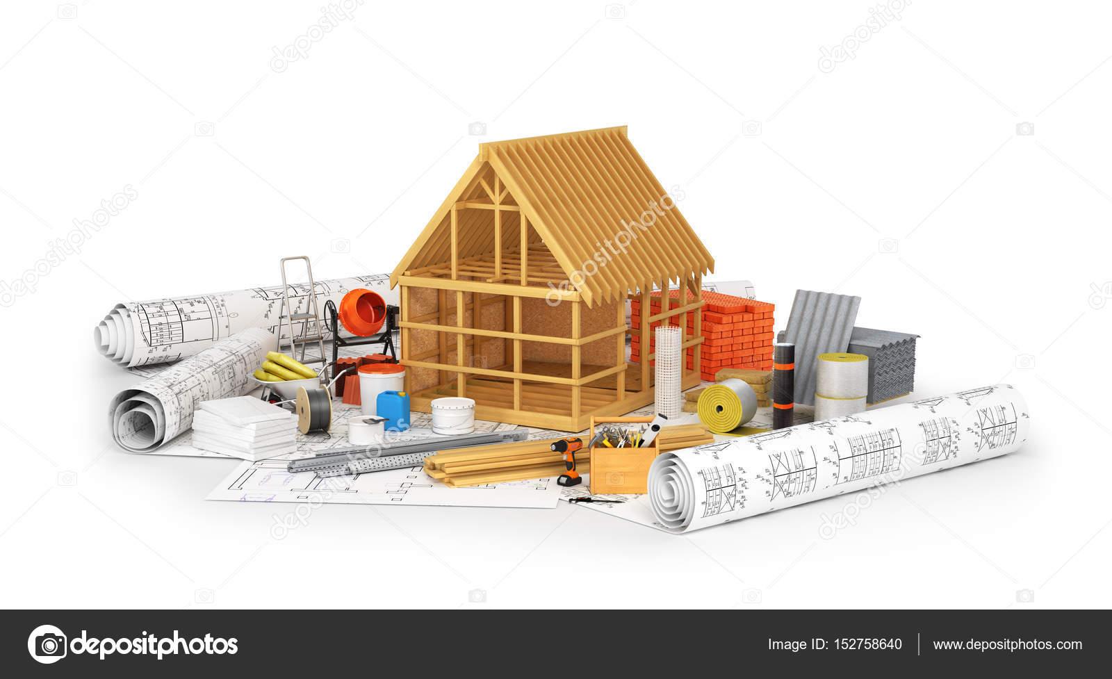 Materiales de construcción, construcción de un marco de madera ...