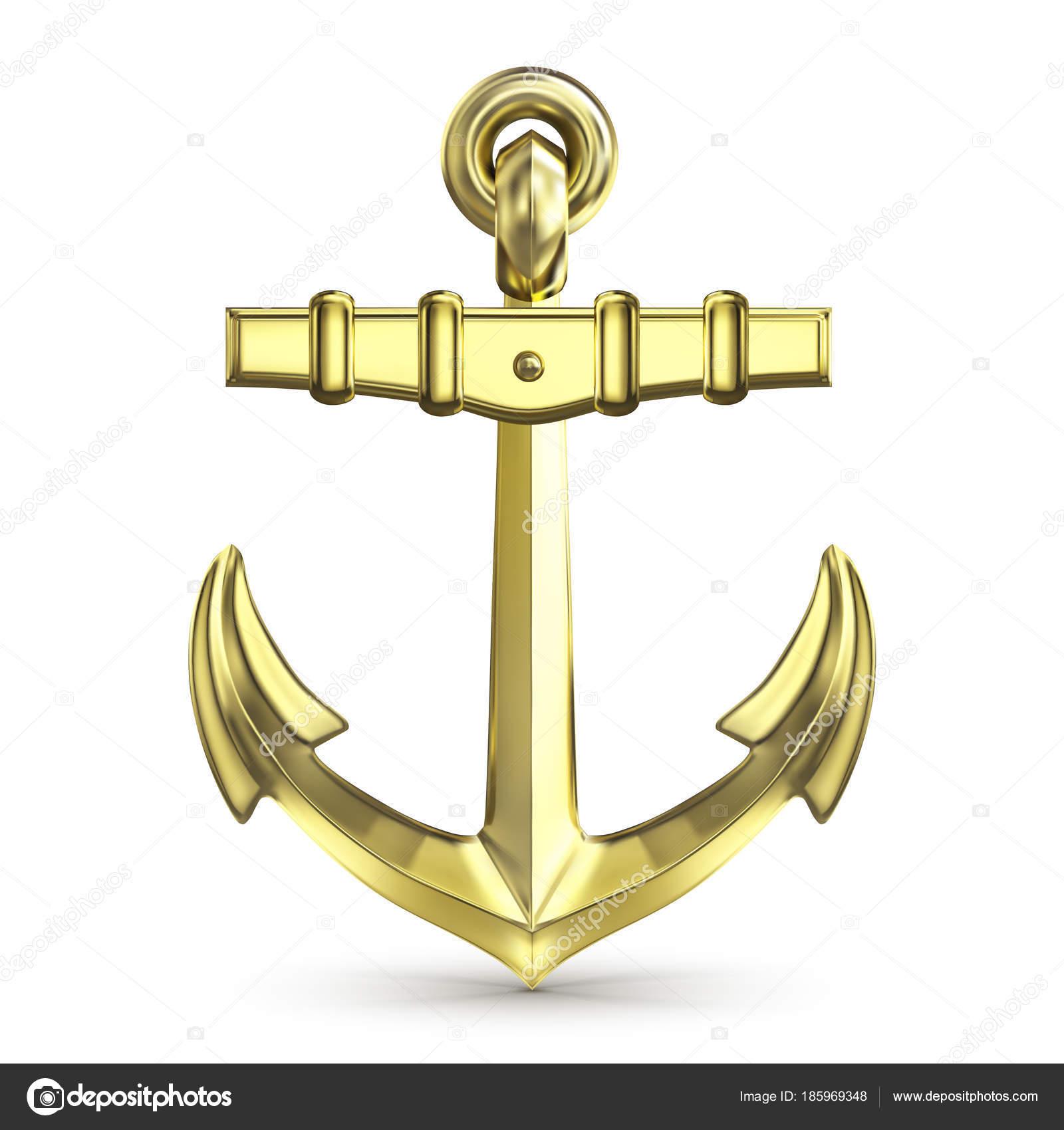 白地に金の錨 ストックベクター Urfingus 185969348