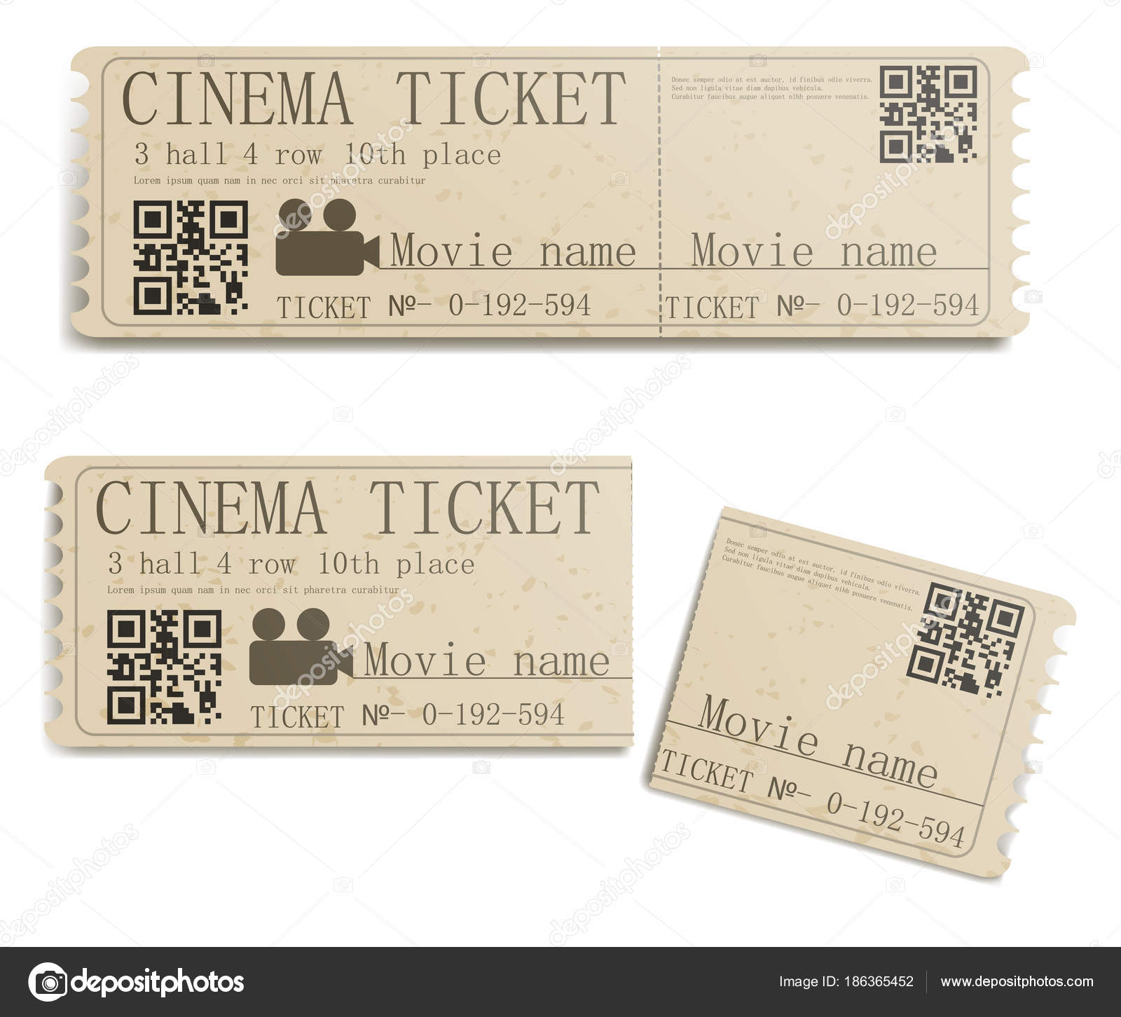 Film-ticket — Stockvektor © urfingus #186365452
