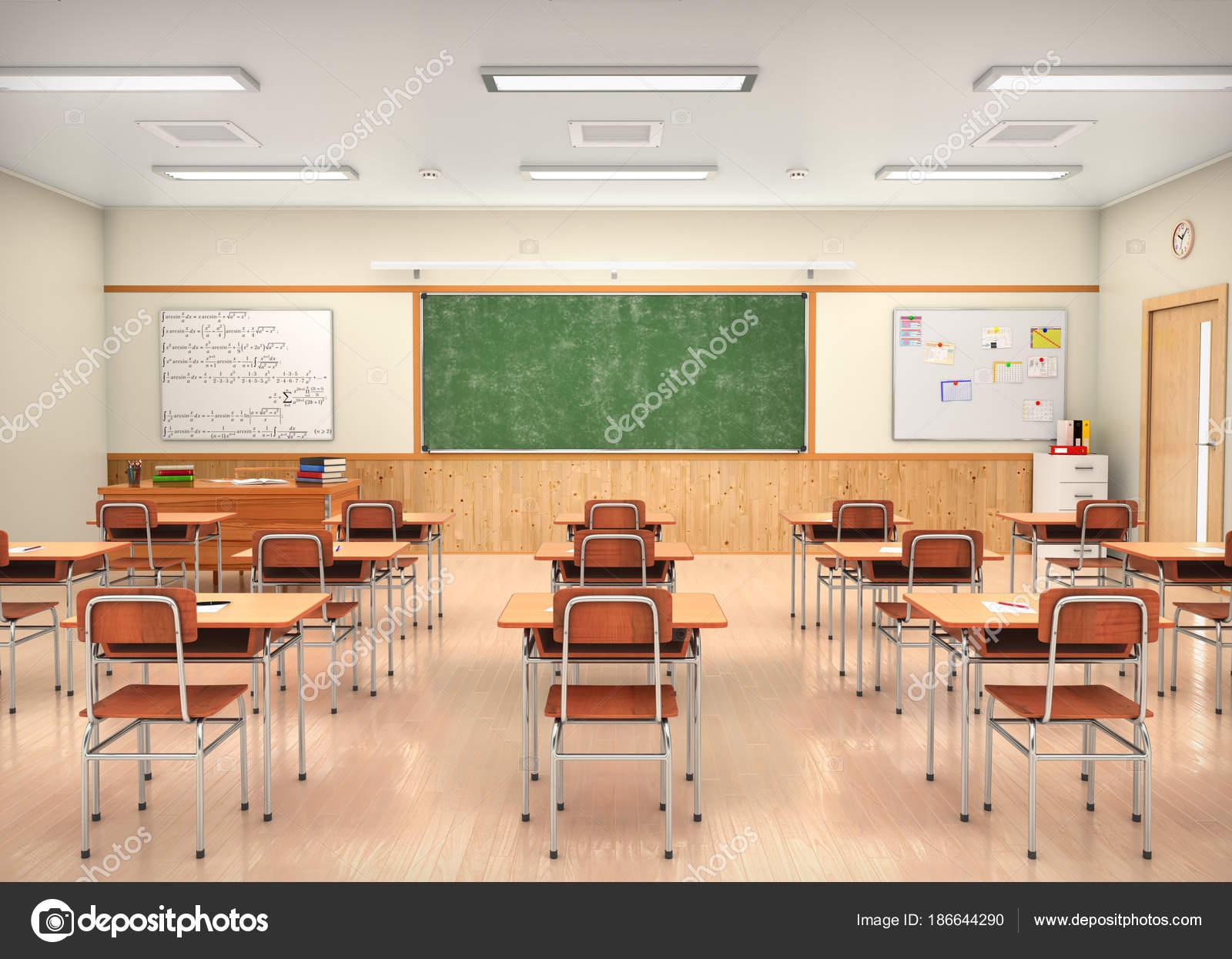 Classroom Interior Design Ideas School Classroom Interior 3d Illustration Stock Photo C Urfingus 186644290