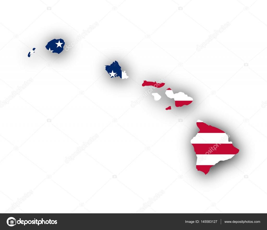 Map And Flag Of Hawaii Stock Vector C Lantapix 145583127
