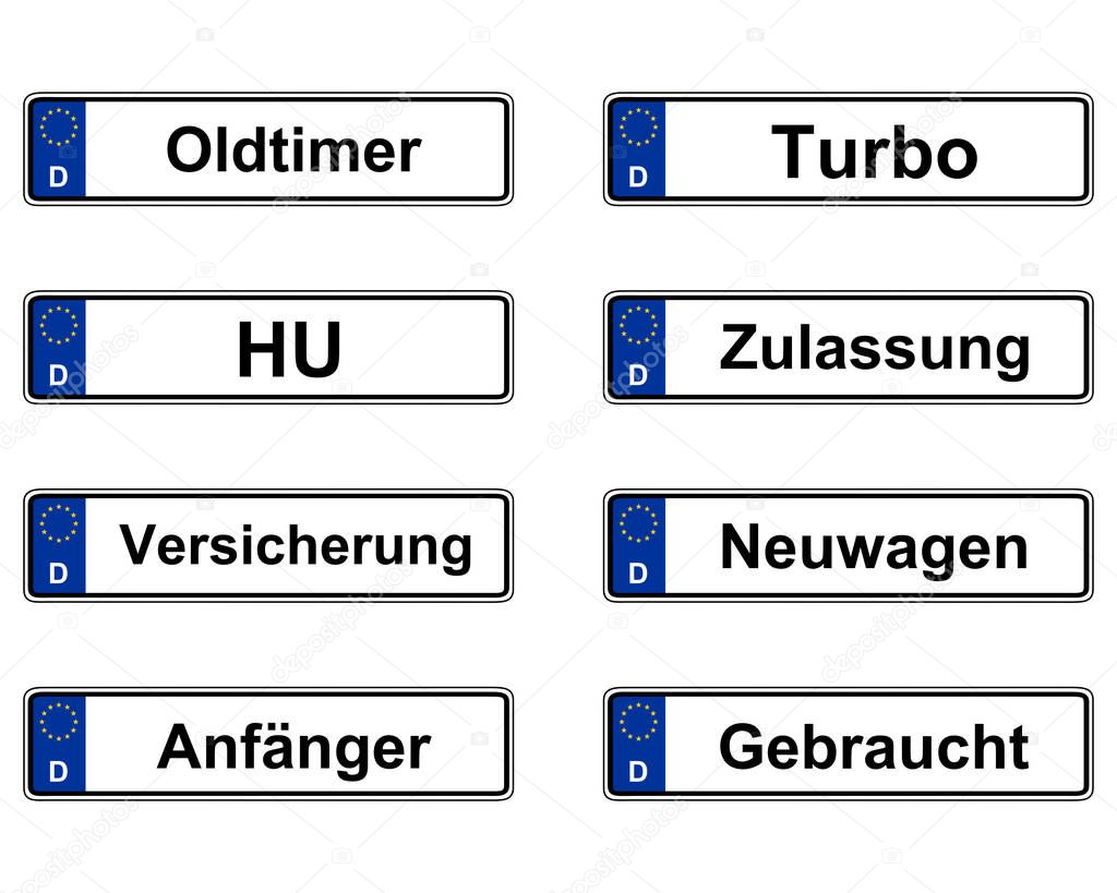 tyska registreringsskyltar