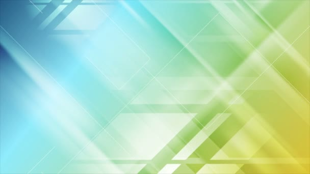 Blue and yellow tech geometric animated background