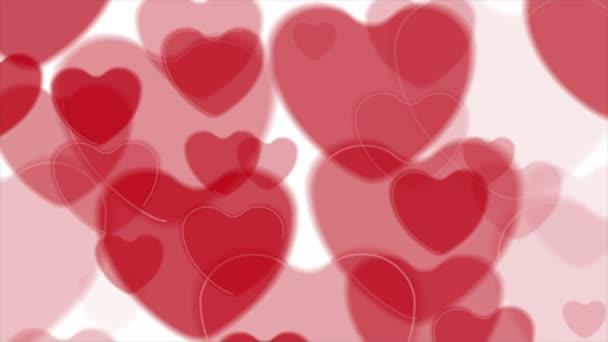Video animace abstraktní zářivě červené srdce