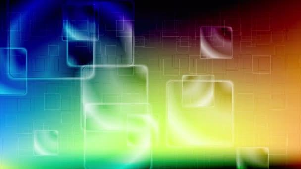 Barevné lesklé čtverce video animace