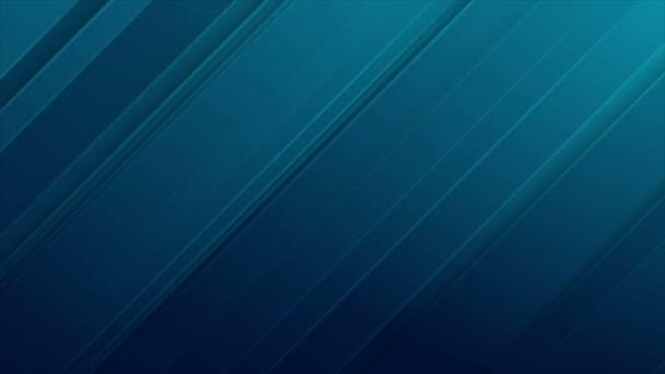 Abstraktní modř diagonální pruhy video animace