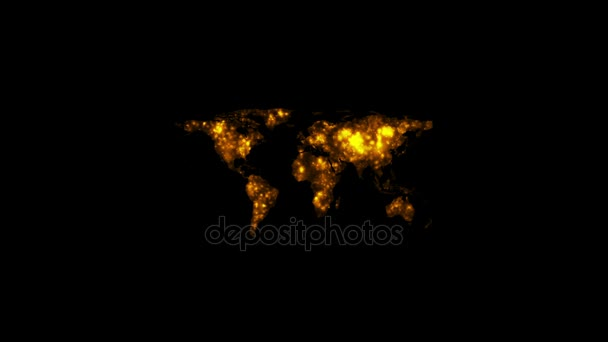 World map lights glowing at night video animation stock video world map lights glowing at night video animation stock video gumiabroncs Image collections