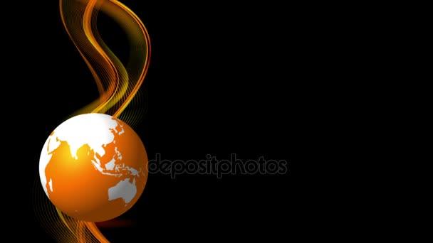 outlet store 18145 31cc0 Sfondo animato di arancione onde fluenti e globo