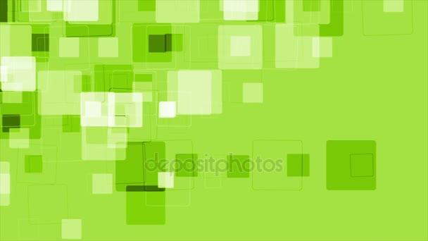 abstrakte Green-Tech-geometrische Videoanimation