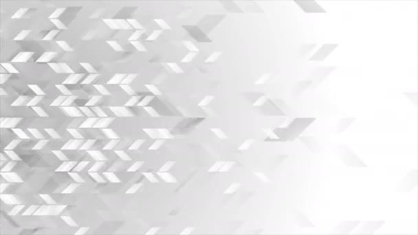 Abstraktní šedá tech geometrické video animace