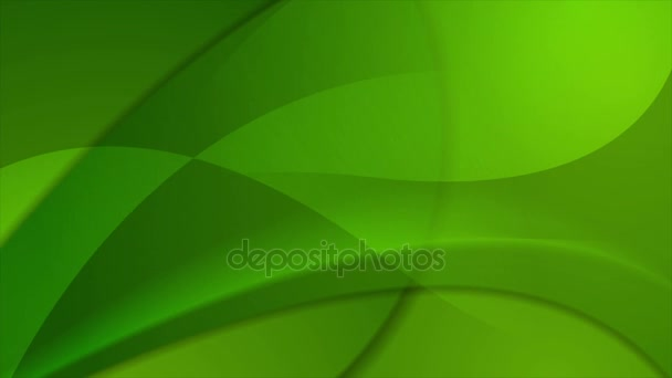Green abstract waves video animation
