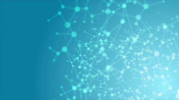 abstrakte blaue dna molekulare Struktur animierten Hintergrund