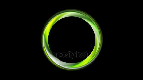 Zelený lesklý kroužek pohybu grafický design
