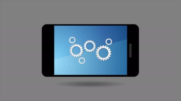 Mobilní smartphone a ikony globální sociální komunikace