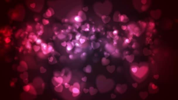 Vörös és rózsaszín izzó bokeh szívét OVA epizódnak