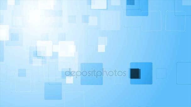 Abstraktní modré geometrické video animace s kosočtverci
