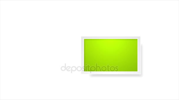Colorful picture frames abstract video animation