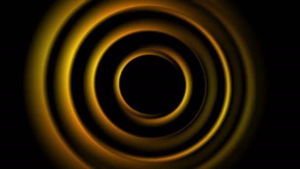 Tmavě oranžové abstraktní hladké kruhy video animace