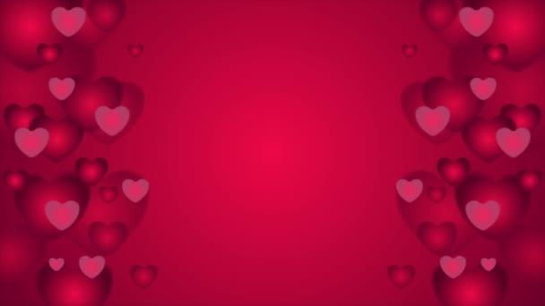 Červená srdce St Valentines Day videoklip