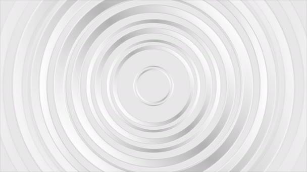 Šedé perleťové lesklé abstraktní kruhy video animace