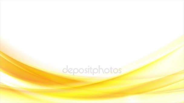 Jasně žluté oranžové rozmazané vlny video animace