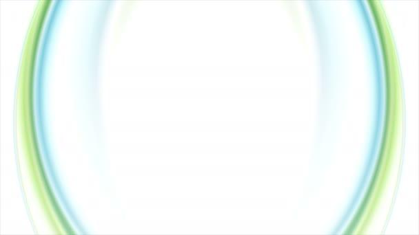 Modré zelené měňavé proudí vlny video animace