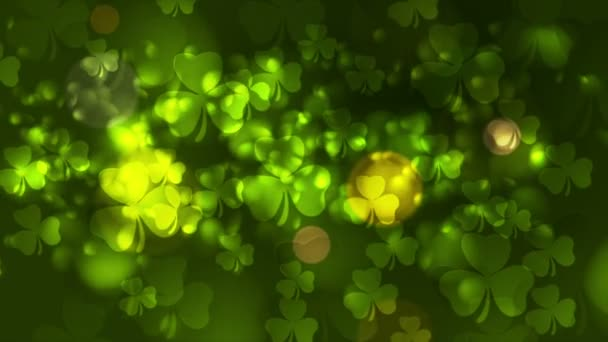 st. patricks day green bokeh abstrakte Videoanimation