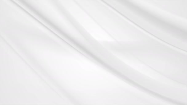 Abstract milk white flowing waves video animation