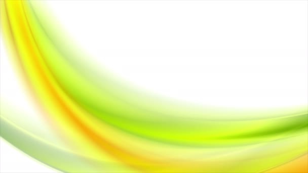 Světle zelená oranžová rozmazané vlny video animace