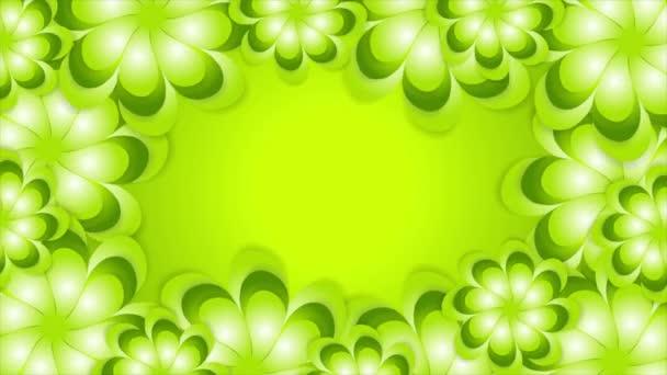 Zelené jaro abstraktní květiny video animace