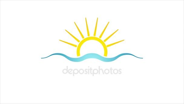 Absztrakt világos nap és a tenger ikon OVA epizódnak