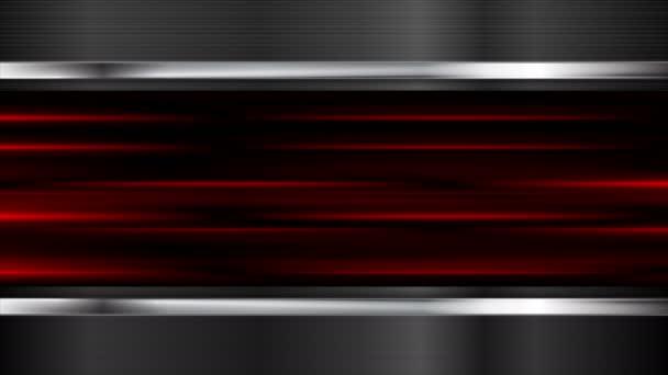 Zářící červenými pruhy a kovových elemets motion design