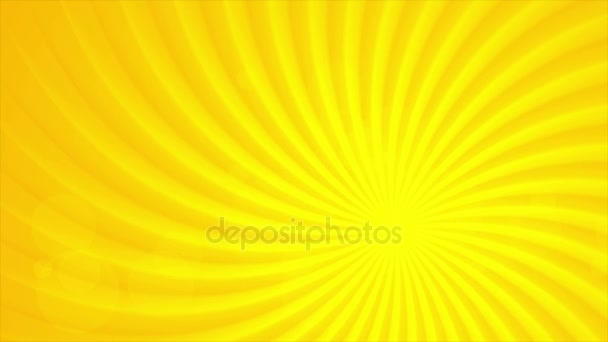 Bright orange sun beams video animation