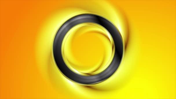 Hladký Černý prstenec abstraktní video animace