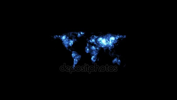World map lights glowing at night video animation stock video world map lights glowing at night video animation stock footage world map blue lights gumiabroncs Choice Image