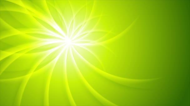 Zelený lesklý nosníky vzorek video animace
