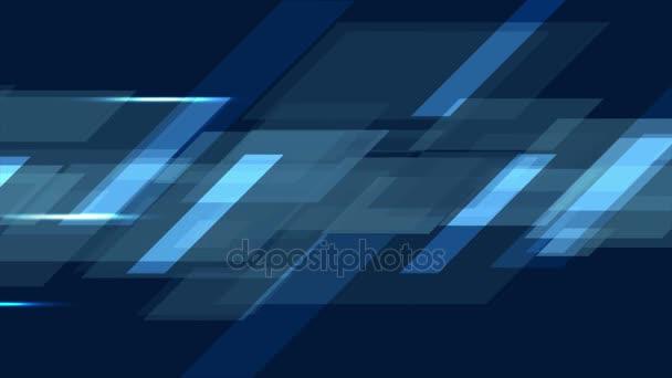 Dark blue tech geometric abstract motion design