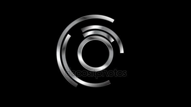Kovové načítání čeká video animace loga