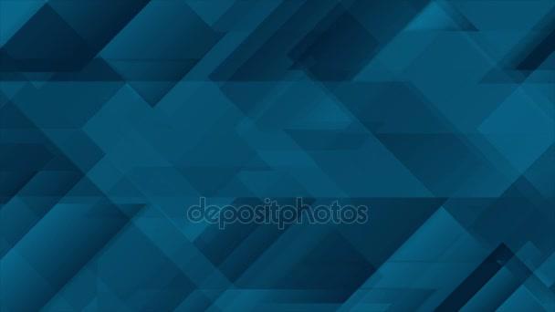 Abstract dark blue geometric video animation