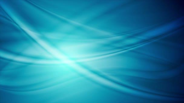 Modré abstraktní hladké proudí vlny video animace